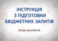 Інструкція з підготовки бюджетних запитів до проекту районного бюджету на 2020 рік